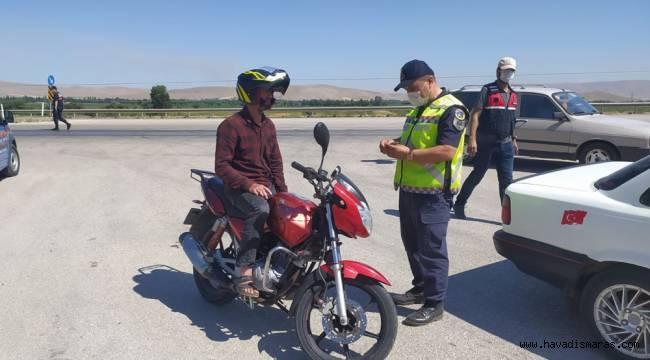 Kahramanmaraş'ta jandarmadan trafik denetimi