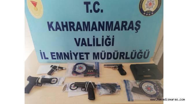 Kahramanmaraş'ta yasa dışı 29 silah ele geçirildi