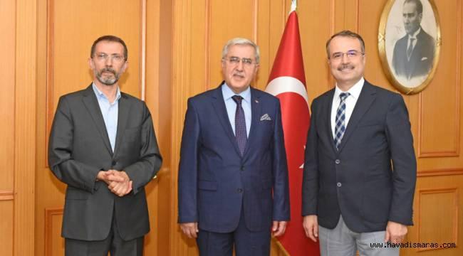 KSÜ Rektörü Can'dan MÜ Rektörüne tebrik ziyareti