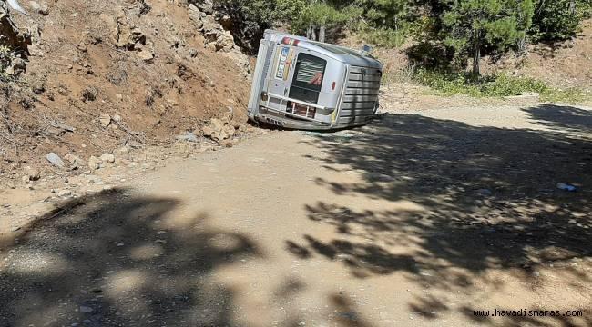 Kahramanmaraş'ta sürücü direksiyon hakimiyetini kaybetti: 1 yaralı