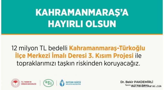 Türkoğlu'na 12 Milyon TL'lik Yatırım Müjdesi