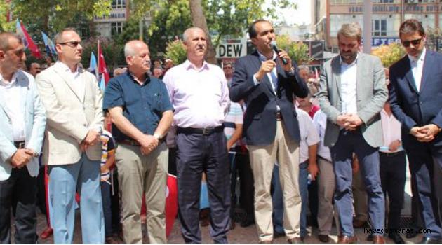 ŞEREFSİZ SALDIRI PROTESTO EDİLDİ..